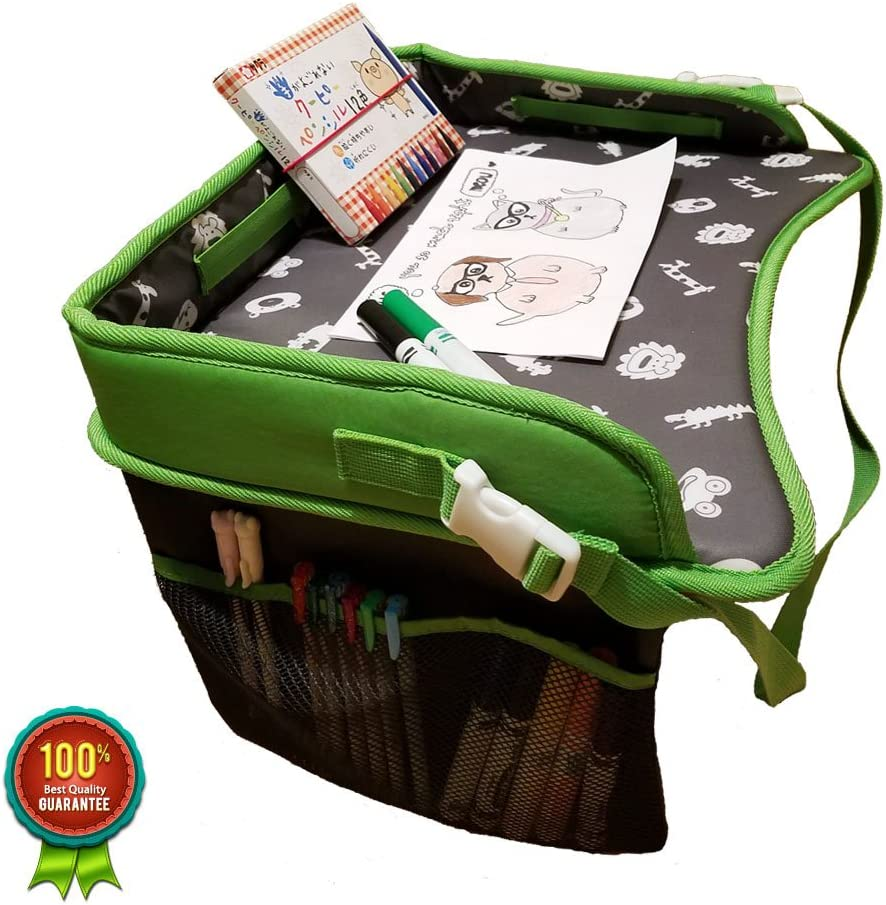 Premium Children Portable Laptop Travel Tray with Side Pocket