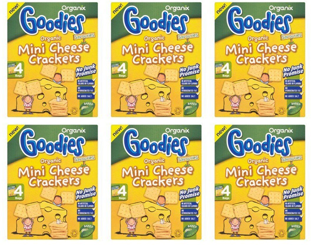 (6 PACK) - Organix - Mini Cheese Cracker | 4 x 20g | 6 PACK BUNDLE