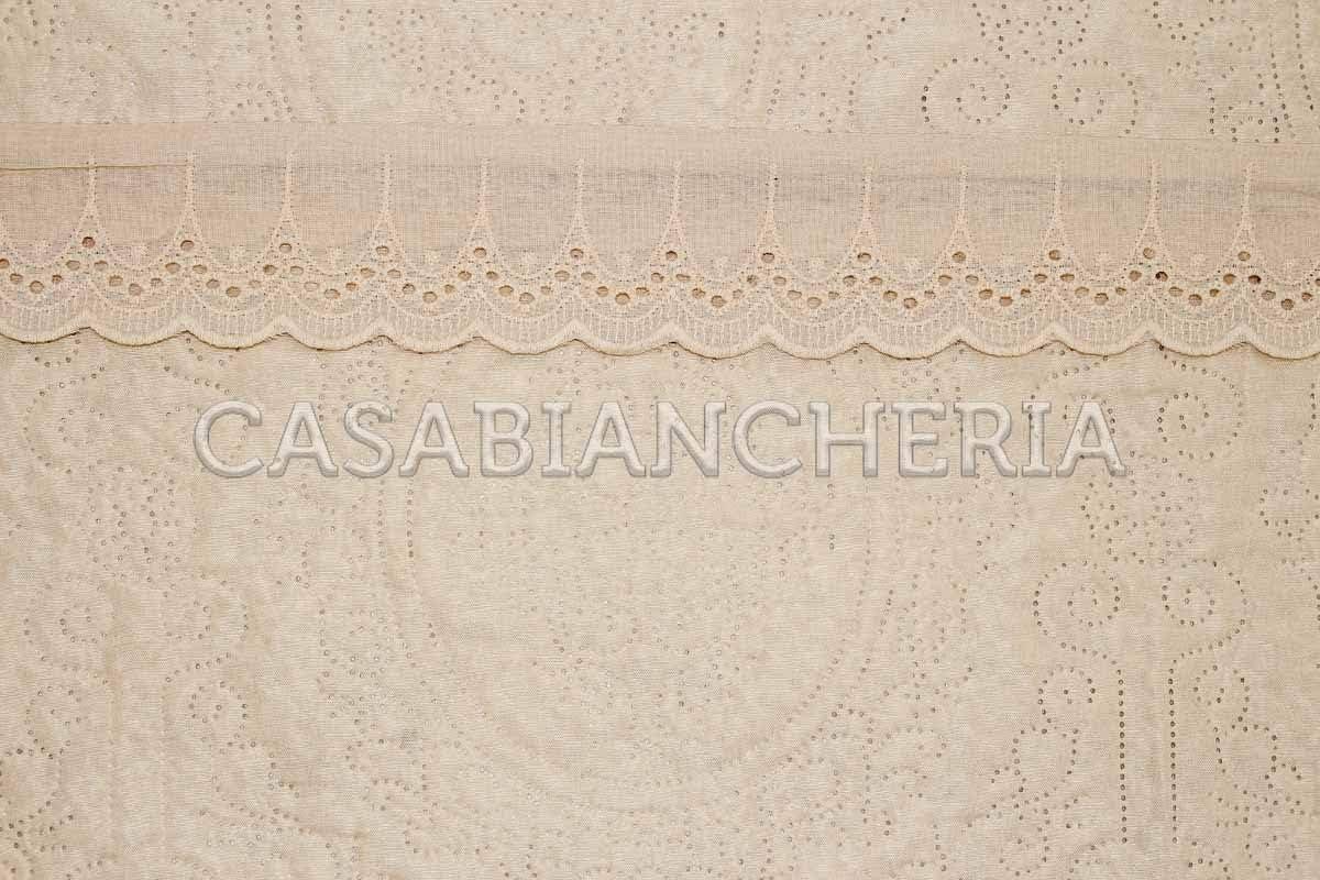 Non brand Copriletto Trapuntato Matrimoniale Sangallo-Beige