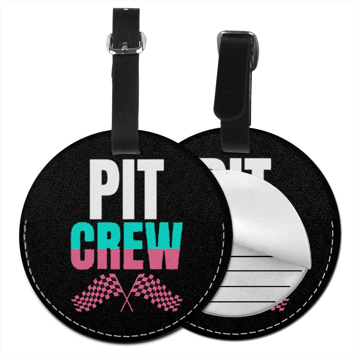 Free-2 Daddys Pit Crew Racing Luggage Tag 3D Print Leather Travel Bag ID Card