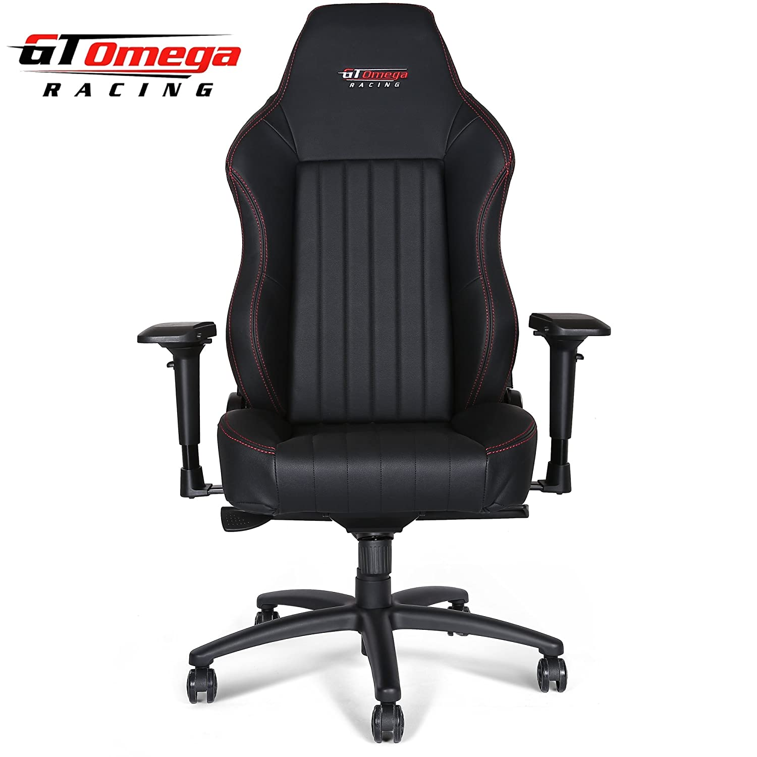 Amazon GT Omega EVO XL Racing fice Chair Black Leather