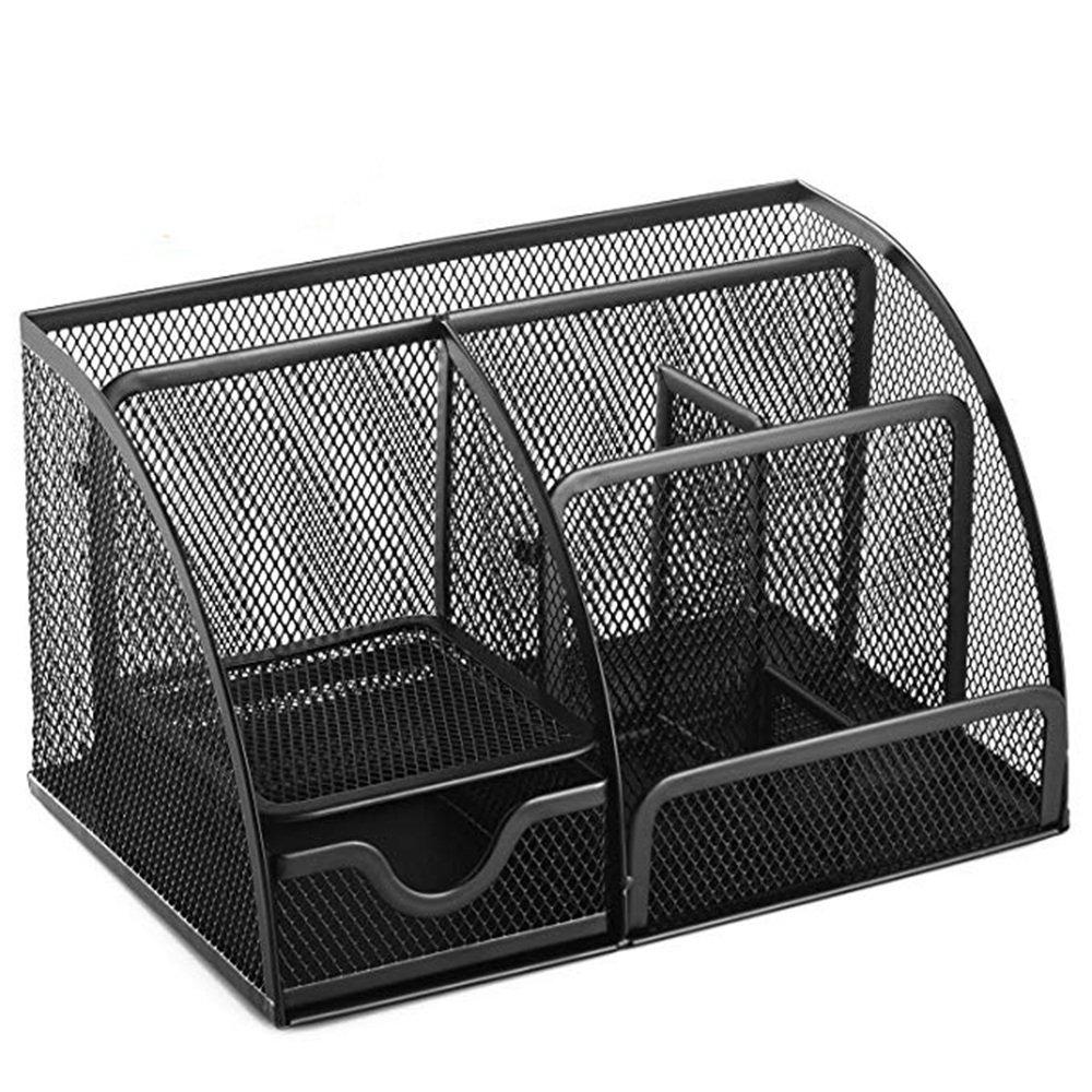 Baoffs Metal Multifuncional Organizador de 6 Escritorio Mesh Office Supplies Caddy, 6 de Compartimentos, Negro para el hogar Caja de Almacenamiento Escolar Presente 75e2ee