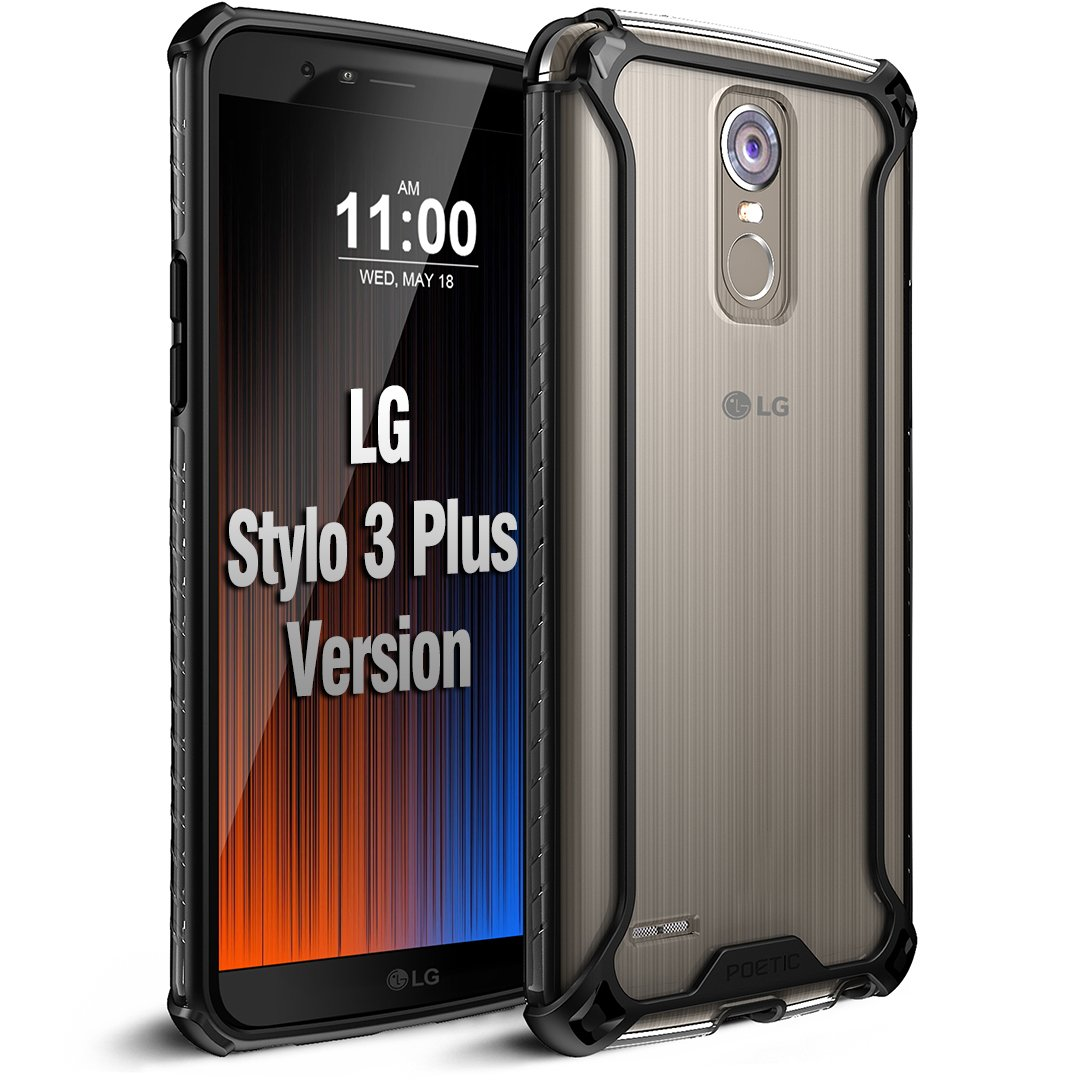 Poetic Affinity Slim Fit LG Stylo 3 Plus/LG Stylo 3 Clear Case with Anti-Slip Side Grip and Reinforced Corner Protection Bumper for LG Stylo 3 Plus/LG Stylo ...