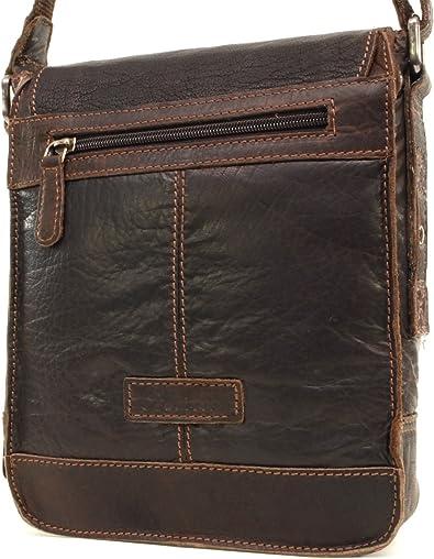 7994 Bolso Bandolera Cuero Marr/ón A5 Apto para Llevar Tablet y iPad ASHWOOD