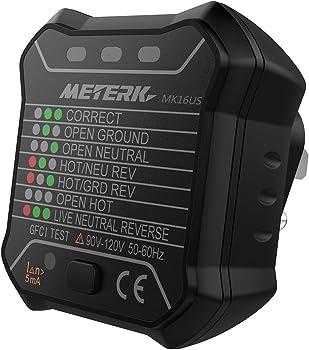 Meterk GFCI Electric Socket Tester