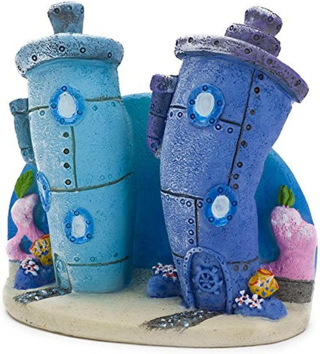 Penn Plax Spongebob Bikini Bottom Homes Aquarium Ornament