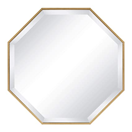Amazon Com Gold Wall Octagon Mirror Octagonal Shape Hanging