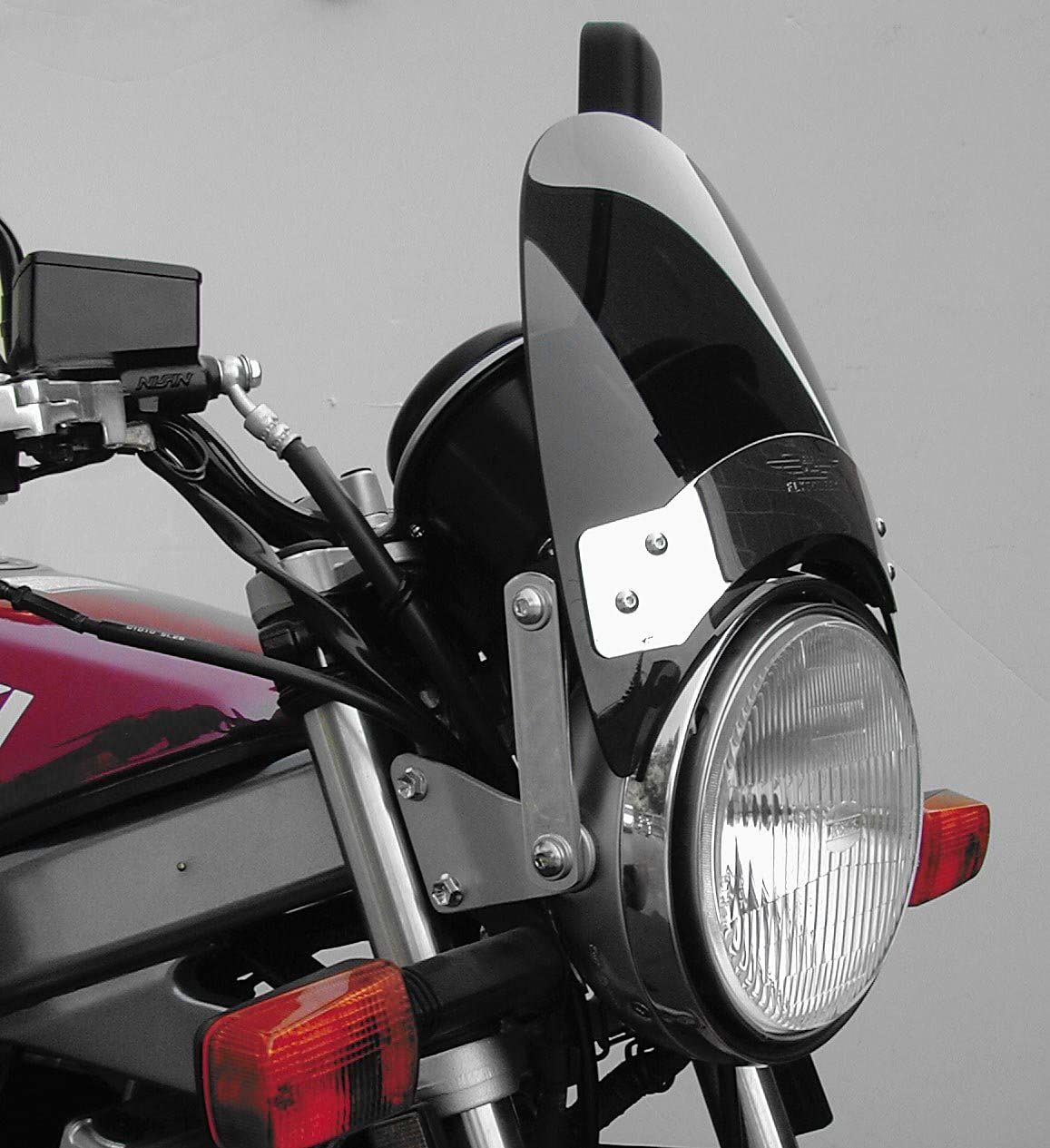 Dark Tint National Cycle N2531-002 Flyscreen with Black Hardware