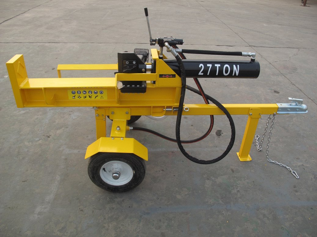 PowRkraft 27-Ton Log Splitter B&S208cc Includes 4-Way Wedge, Log Cradle, Log Stripper