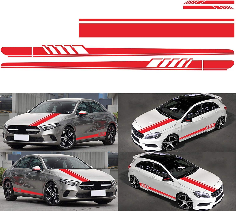 Alivier Universal Racing Stripes Vinyl Aufkleber Auto Motorhaube Spiegel Karosserie Racing Streifen Aufkleber Aufkleber Küche Haushalt