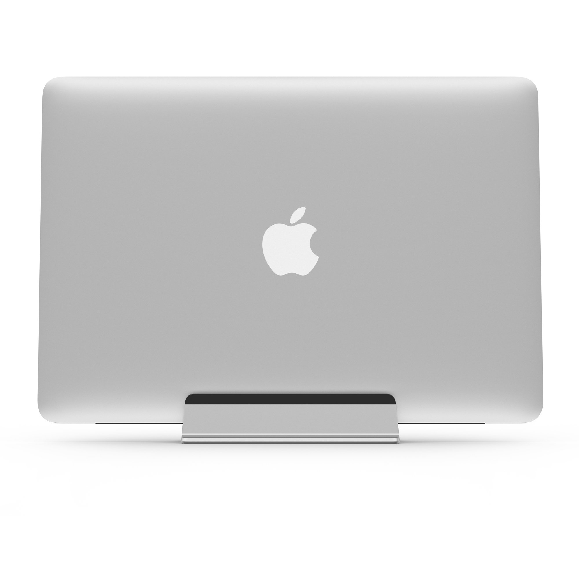 UPPERCASE KRADL Pro Small Profile Aluminum Vertical Stand for Retina MacBook Pro 13'' or 15'' (2012 to 2015 Releases), Silver/Black by UPPERCASE (Image #4)
