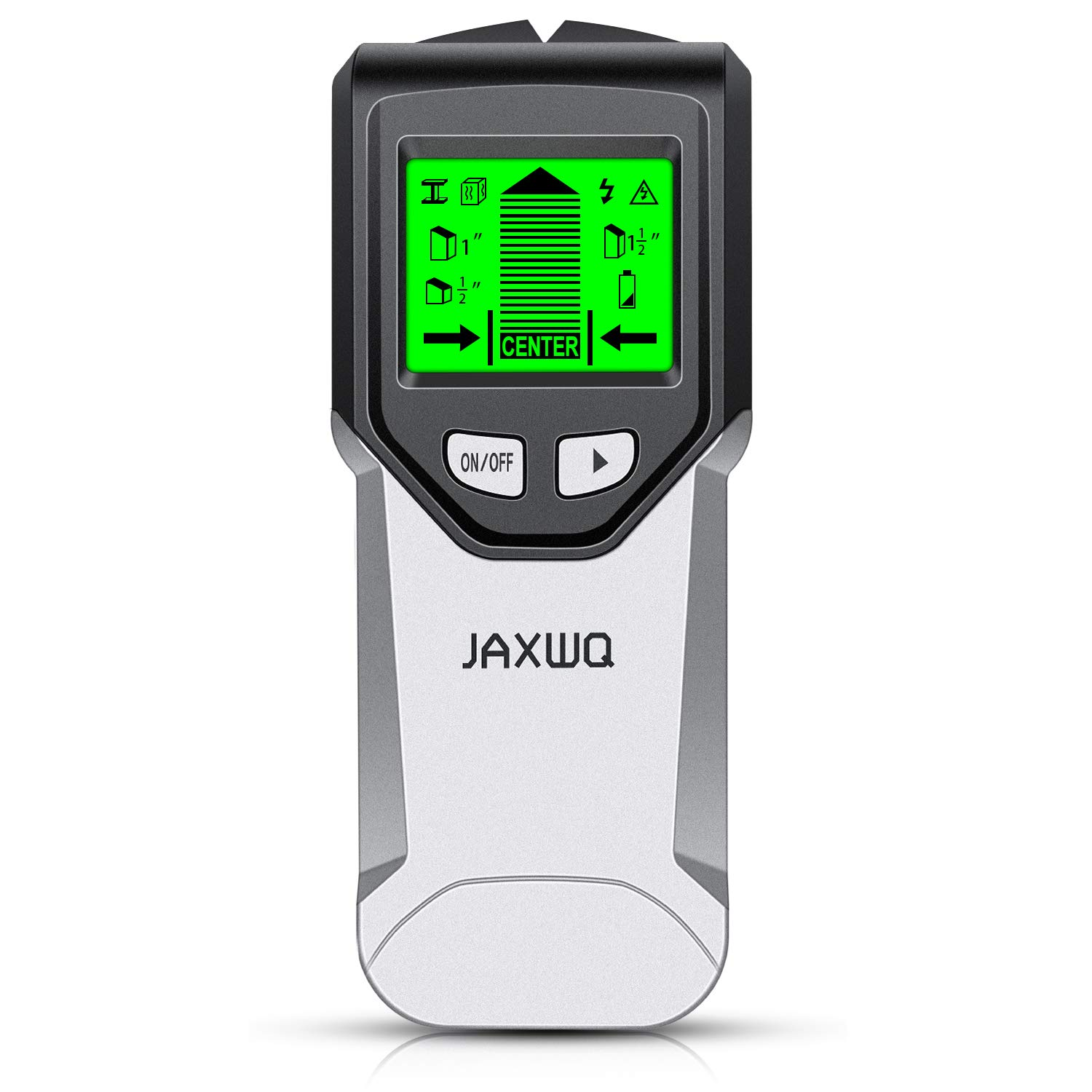 Stud Finder Wall Scanner 5 in 1Stud Detector with Intelligent Microprocessor chip, HD LCD Display and Audio Alarm, Accurate and Fast Location for the Center and Edge of Metal, Studs, AC wire by JAXWQ