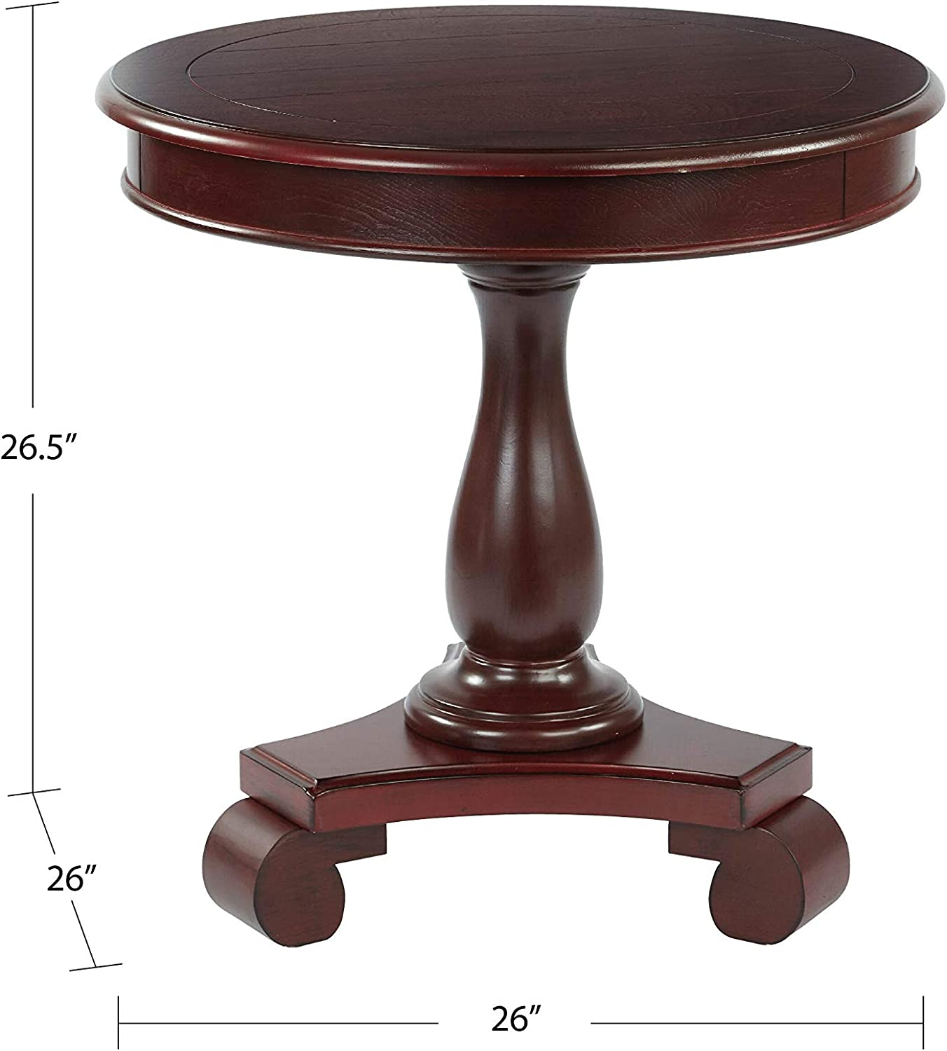 - Amazon.com: INSPIRED By Bassett Avalon Hand Painted Round Accent