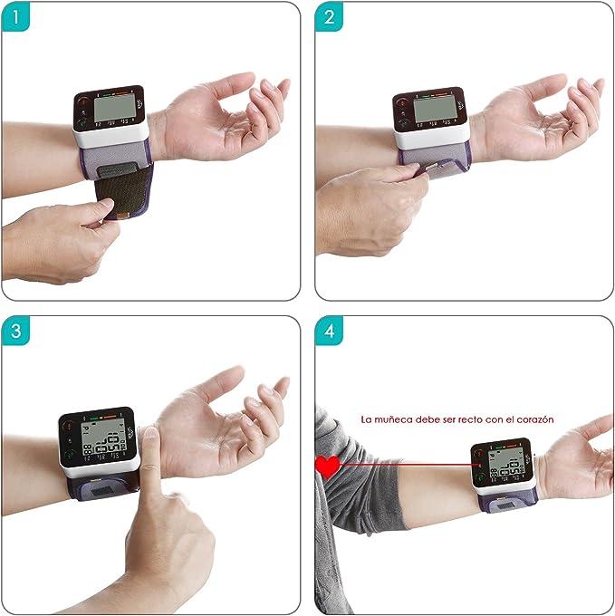 SIMBR Tensiómetro de muñeca Monitor de presión arterial Alta ...