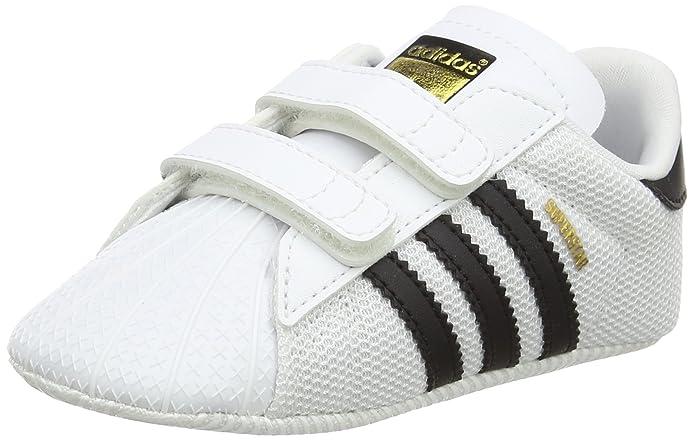 adidas Superstar Sneakers Babyschuhe Unisex weiß mit schwarzen Streifen