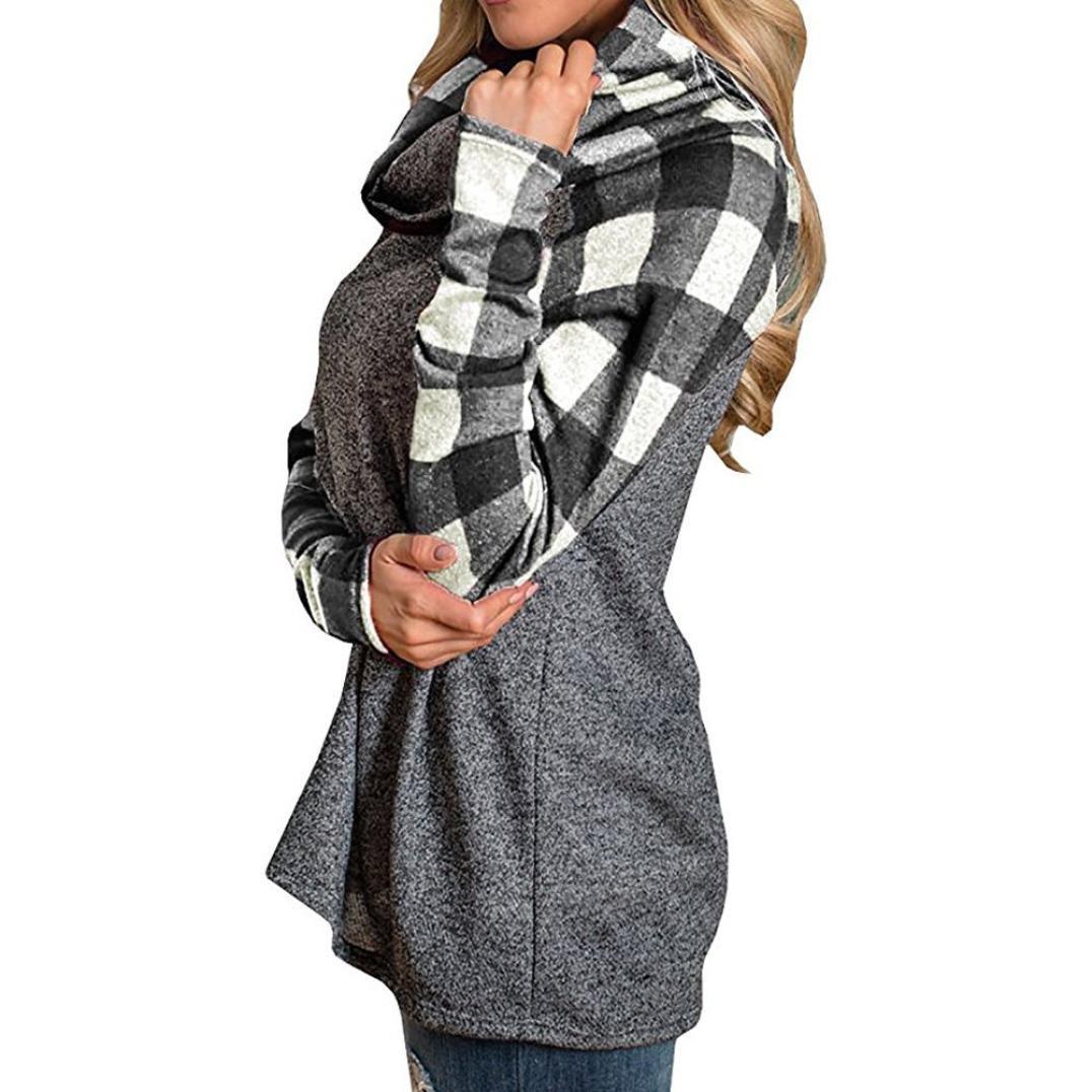 Amazon.com: orangeskycn para mujer de manga larga Pullover ...