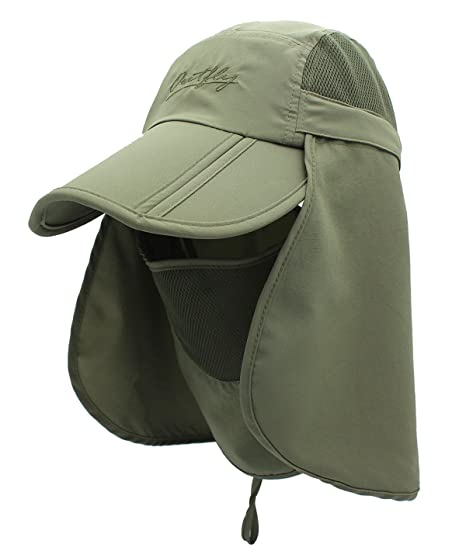 222adabea0e Men Polyester Sun Cap for UPF 50+ Protection Quick-Drying Fishing Hat with  Removable