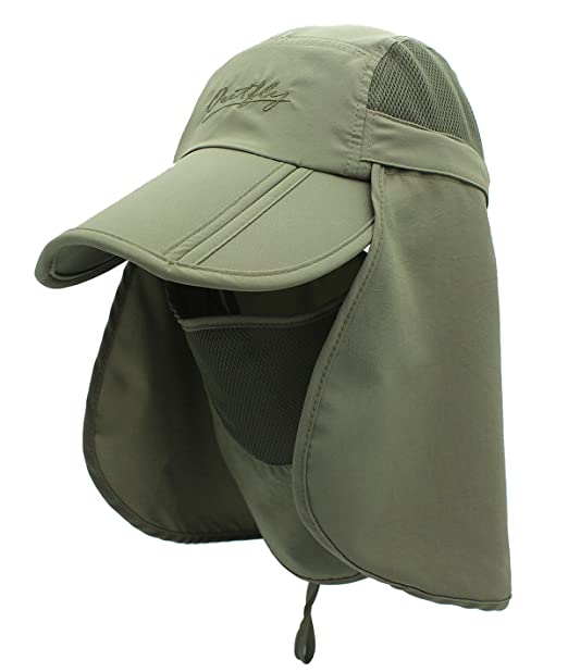 66b4711cad361 Men Polyester Sun Cap for UPF 50+ Protection Quick-drying Fishing Hat with  Removable