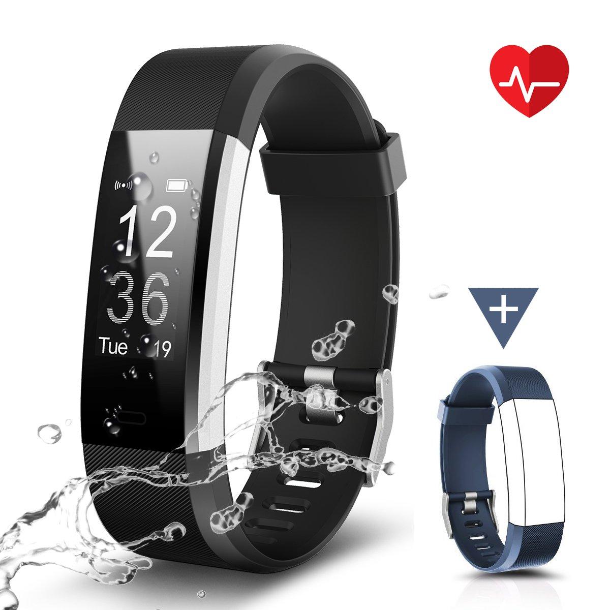 CHEREEKI Fitness Tracker, Moniteur de Fréquence Cardiaque Activité Tracker étanche IP67, Smart Bracelet Podomètre product image