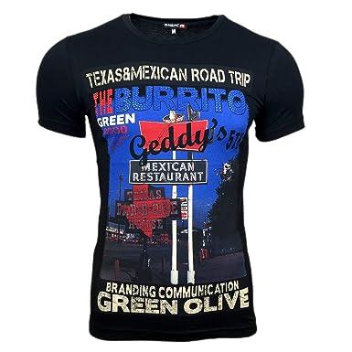Avroni Druck T Shirt Herren Texas Schwarz Polo Hemd S M L XL XXL Kurzarm  Rundhals Neu: Amazon.de: Bekleidung