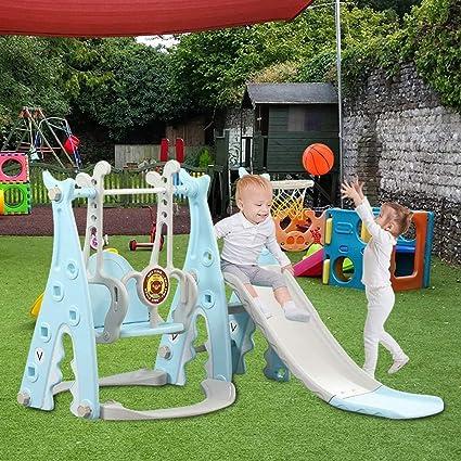 YQZ Juego de aro de Baloncesto Slide Swing Slide para niños ...