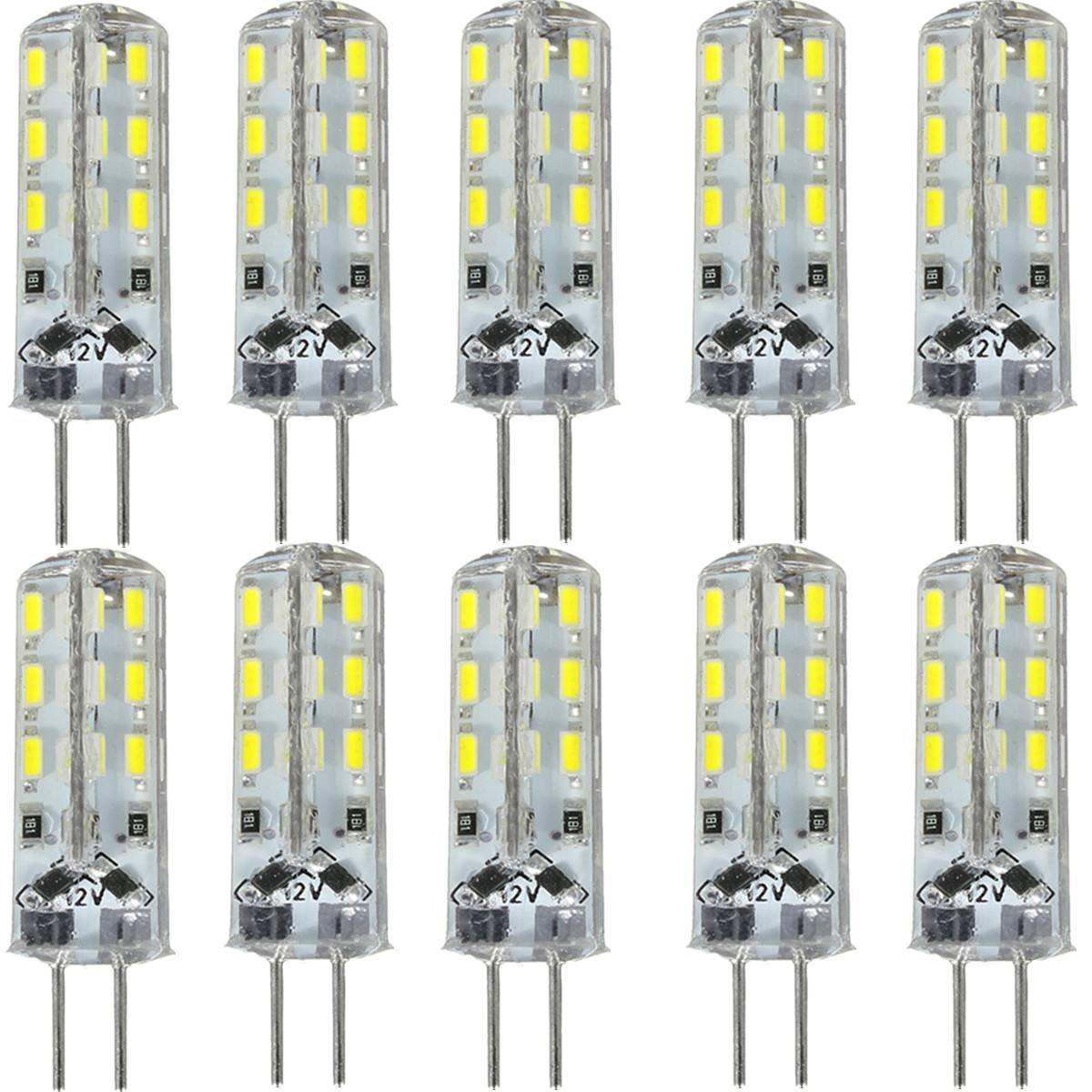 KingSo 10x G41,5W LED-Leuchtmittel kaltweiß entspricht einer 20-W-Halogenlampe omnidirektionales Licht 24SMD 3014DC 12V 6.000K 195 lm Strahler, Super-Hell, Energiesparend [Energieklasse A+] KingSo 10x G41