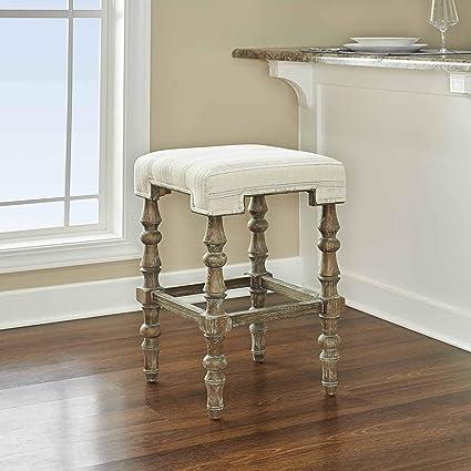 Amazon Com Linon Home Decor Amzn1121 Counter Stool Brown Kitchen