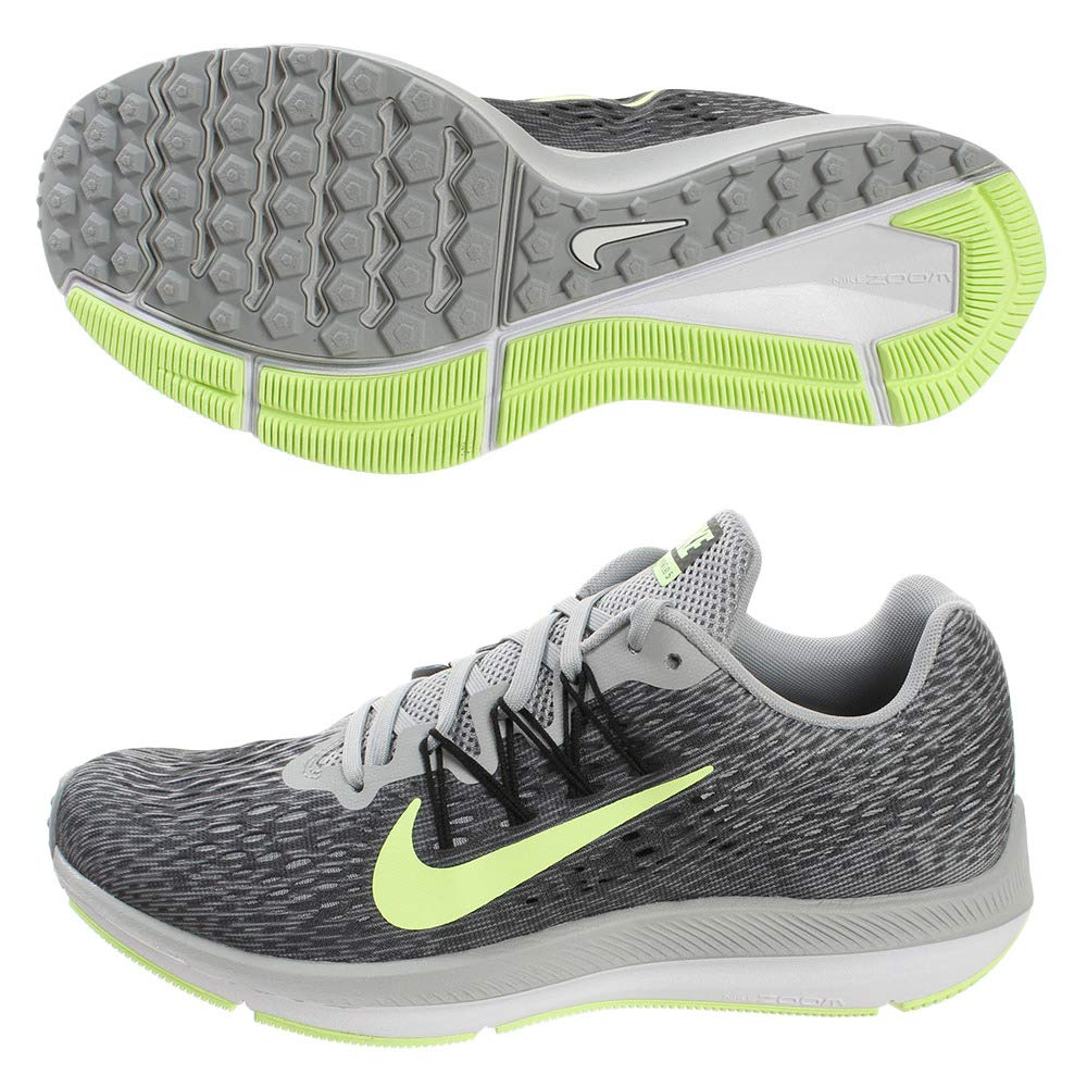 MultiCouleure (Wolf gris Lime Blast Anthracite noir 007) Nike Zoom Winflo 5, Chaussures d'Athlétisme Homme 40.5 EU