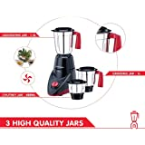 Morphy Richards Aero Plus 500-Watt Mixer Grinder with 3 Jars (Black/Red)