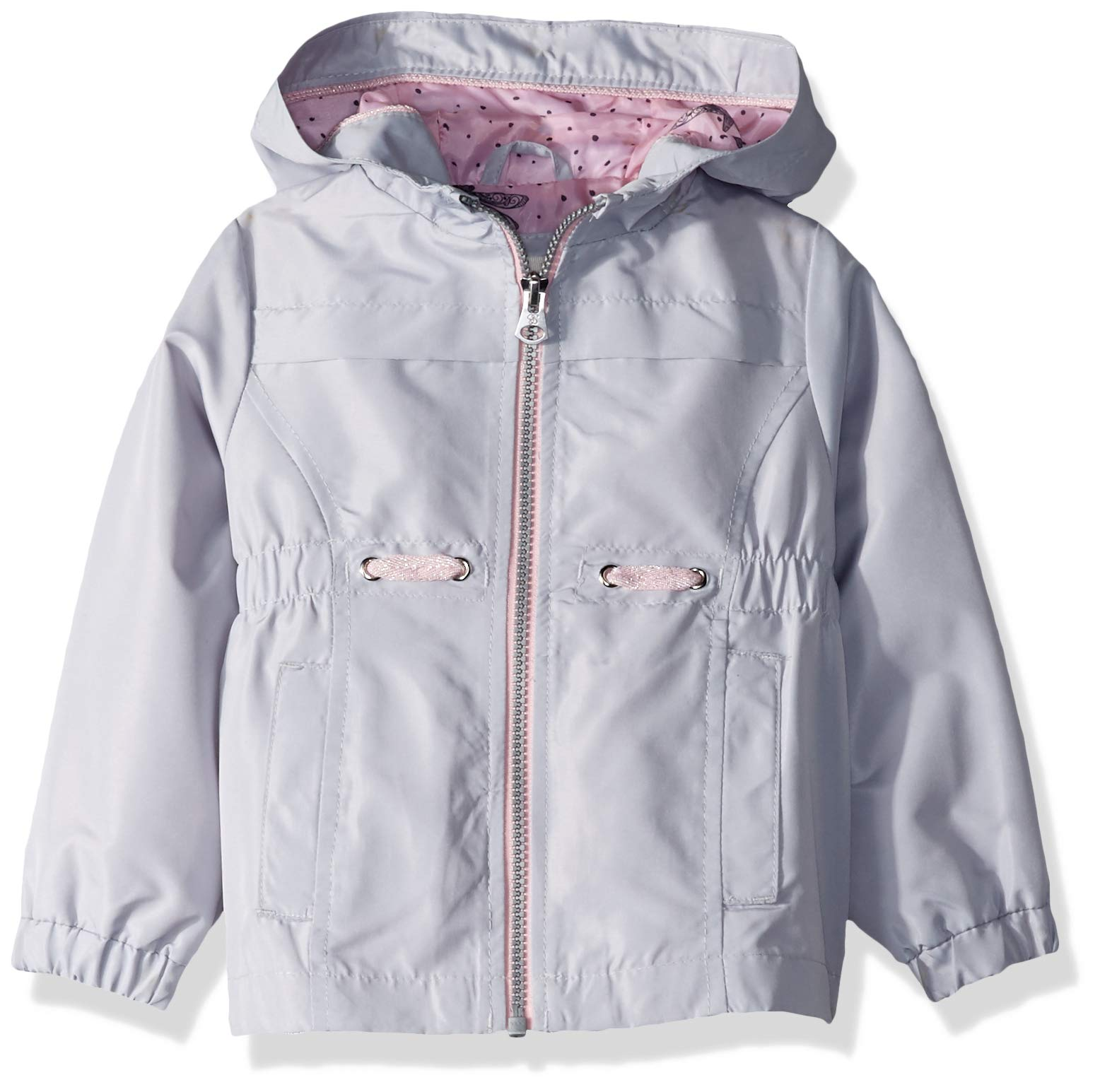 Jessica Simpson Girls' Toddler Lightweight Anorak Jacket with Jersey Lining, Silver surf Gray, 2T