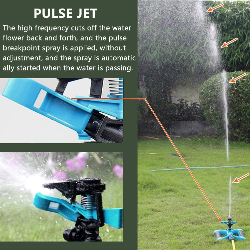 Gartenregner Automatische Bewässerung Rasen 360 ° drehbarer Regner 5 Düsen DD
