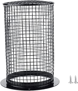 HEEPDD Reptile Anti-Scald Lampshade, Round Reptile Heating Lamp Mesh Cover Day Night Ceramic Light Bulb Enclosure Cage Protector for Pet Reptile Amphibian
