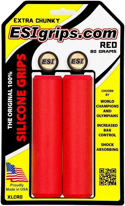 ESI GRIPS Puños Extra Chunky Color Rojo: Amazon.es: Deportes y aire libre