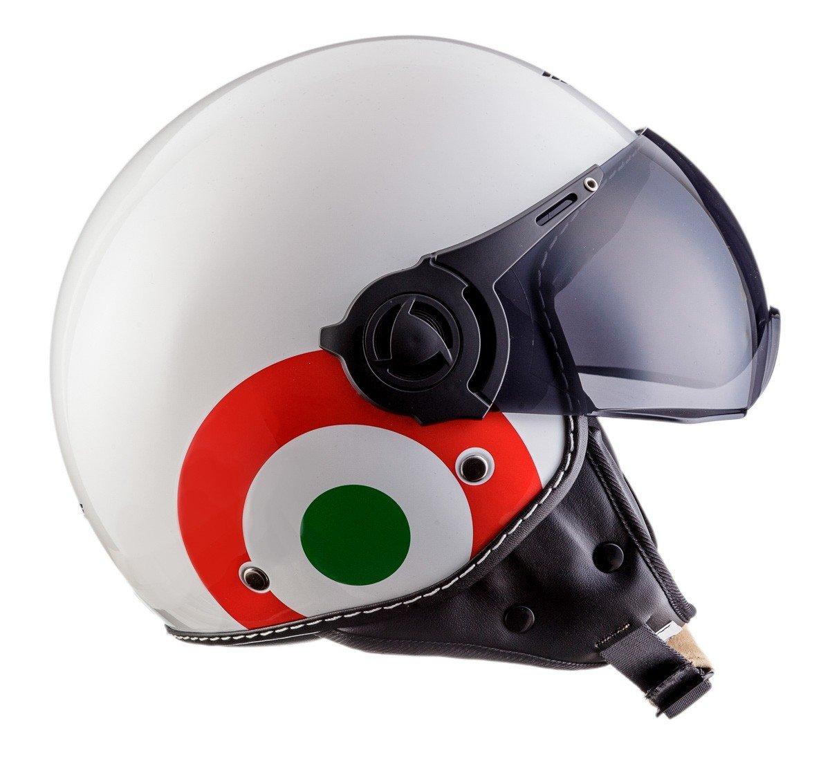 Noir Mat 57-58cm M Moto Helmets H44 Bobber Vintage Chopper Demi-Jet Helmet Scooter Chopper Pilot Retro Biker Vespa Moto Mofa Casque Jet Cruiser