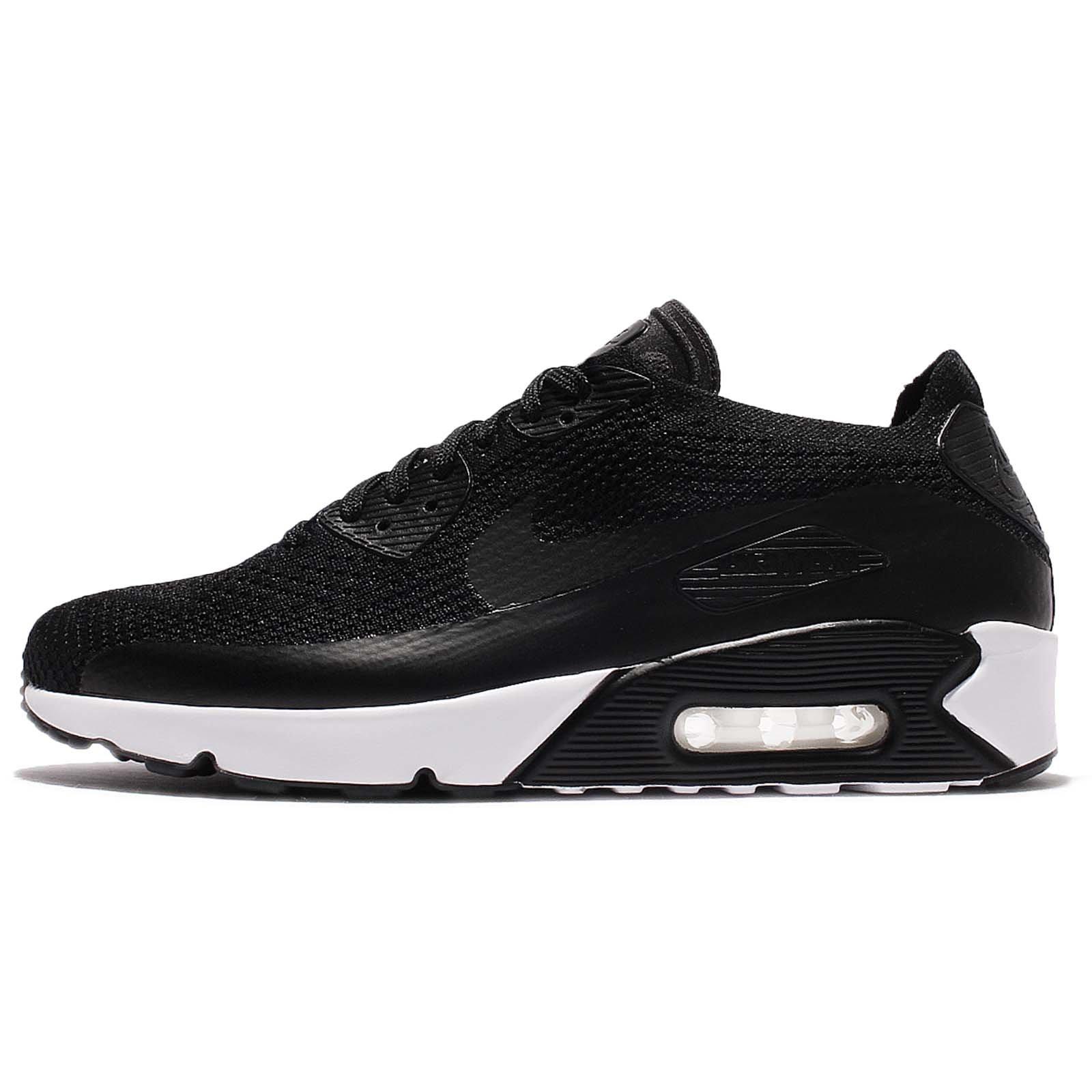 Nike AIR MAX 90 Ultra 2.0 Flyknit Triple Black White Mens Running 875943 004