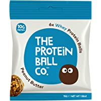 The Protein Ball Co Whey Protein Balls, 45g, Peanut Butter, 10-Count