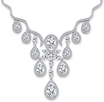 Party Formal Extra Sparkly Cystal Vintage Demi Parure Bride Gala Jewelry Set Black Diamond /& Crystal Modern Vintage