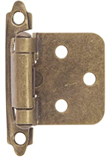 Hardware House 64 4518 Contractor Pack Flush Cabinet Hinge, Antique Brass,  10