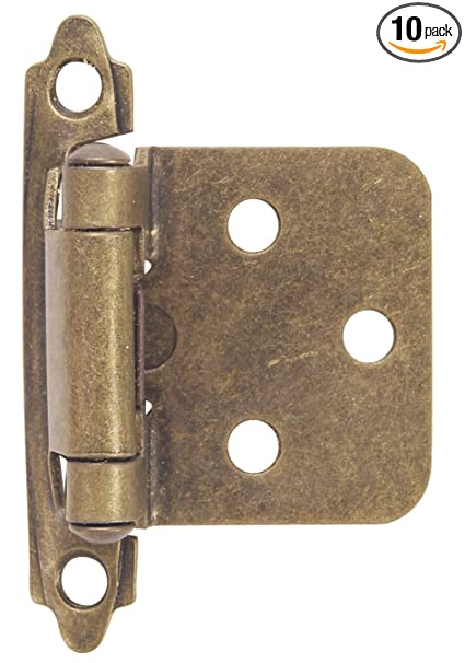 Hardware House 64-4518 Contractor Pack Flush Cabinet Hinge, Antique Brass,  10- - Hardware House 64-4518 Contractor Pack Flush Cabinet Hinge, Antique