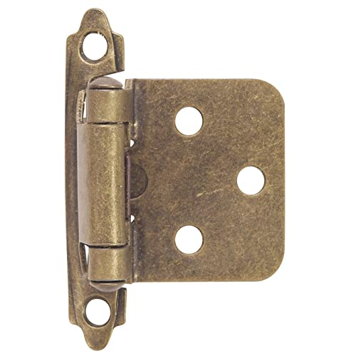 Hardware House 64-4518 Contractor Pack Flush Cabinet Hinge, Antique Brass,  10- - Antique Hinges For Cabinet Doors: Amazon.com