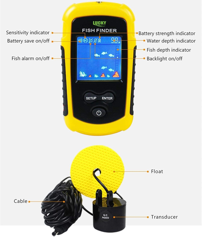 CHSEEO Buscador de Peces Sonar para Pesca Sondas de Pesca Detector Fishfinder Buscadores de Pescado Alarma Profundidad Buscador Eecosonda para La Pesca #1