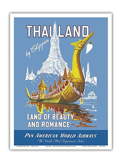 976cac36c5e2 Thailand by Clipper - Pan American World Airways - Land of Beauty and  Romance - Royal