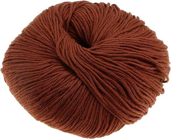 sharprepublic 1 Madeja 50g Tejer Crochet Suave Bebé Algodón Hilados De Lana De Punto Artesanía DIY - Marrón: Amazon.es: Hogar