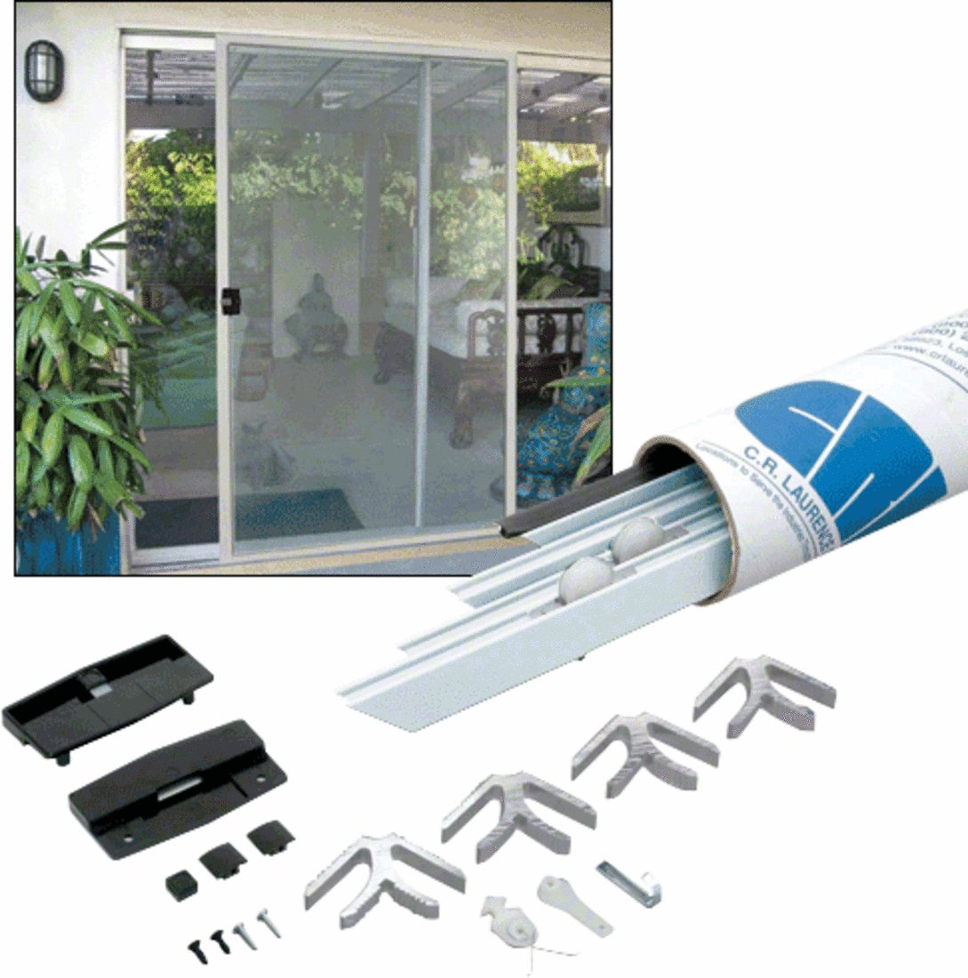 C.R. LAURENCE KD13436X96W CRL White 37'' x 97'' K.D. Screen Door Kit by CR Laurence (Image #1)