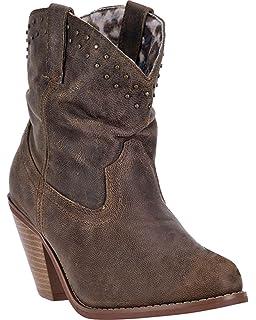 Amazon.com | Dingo Women's Ember Short Cowgirl Boot Round Toe - Di ...