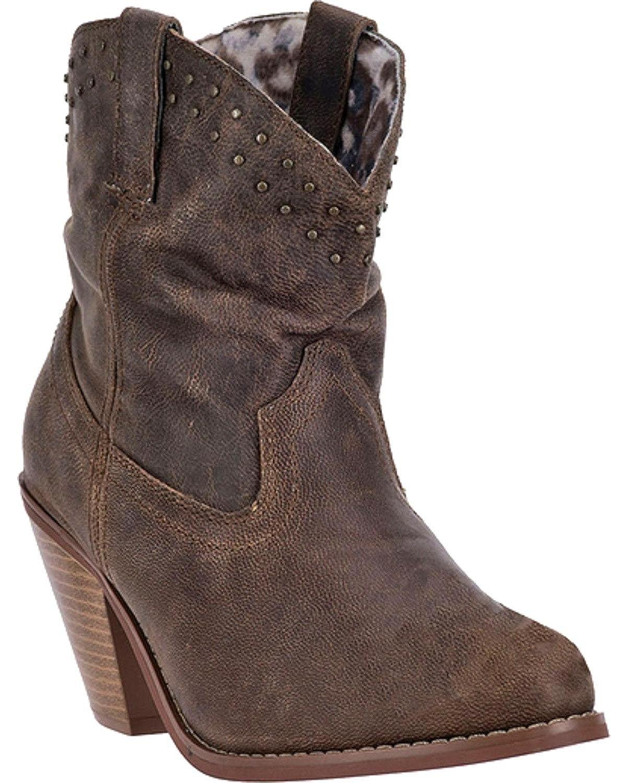 Dingo Women's Lou Short Cowgirl Boot Round Toe Di 718