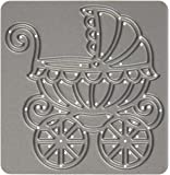 CottageCutz Elites Die Cuts, 2.3 by 2.3-Inch, Baby Carriage