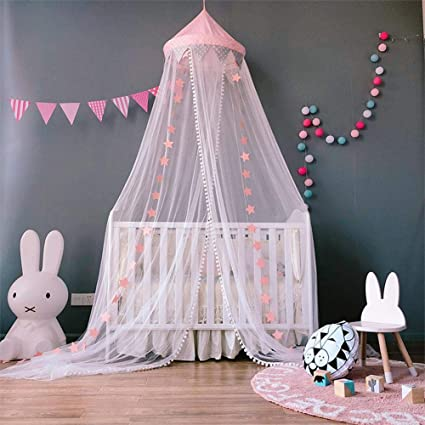 For Hammock Baby Kids Anti-mosquito Dome Fantasy Champion Net Curtain Play Tent Bed Canopy Mosquito Bed Bedding Round Lace Crib Netting
