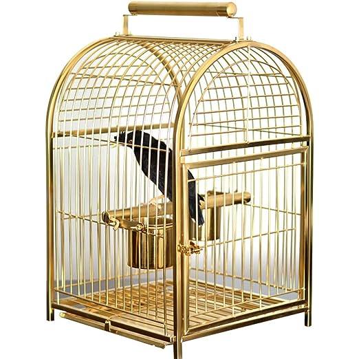 LSWUDU Jaula de pájaros de Acero Inoxidable Jaula de Loros Gris ...