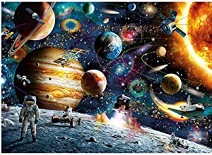 1000 Pieces Puzzles for Adults Space Jigsaw Puzzles Challenging Large Puzzle Kids Toys Wall Hanging for for Home Decor - Space Traveler